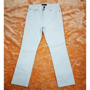 Lauren Jeans Co. white straight leg pants